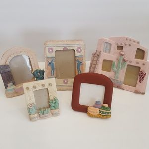5 Southwest Cactus Adobe small picture frames
